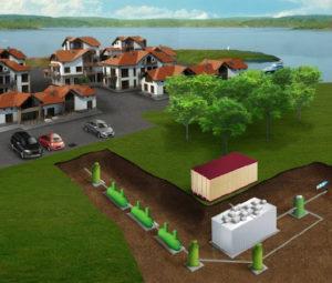 Очистные сооружения для коттеджного поселка