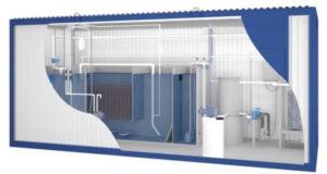 Блочно-модульные очистные сооружения в 3d