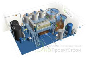 Проект очистных сооружений в 3d